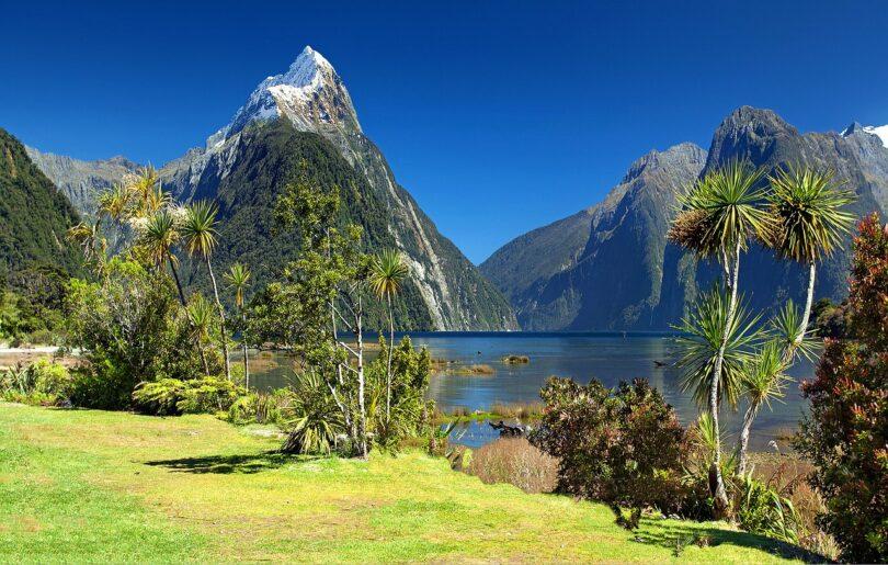 New Zealand Milford Sound Mitre Peak Fjord